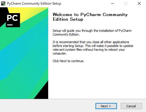 Welcome to PyCharm Community Edition Setup