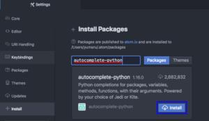 Atom autocomplete-python